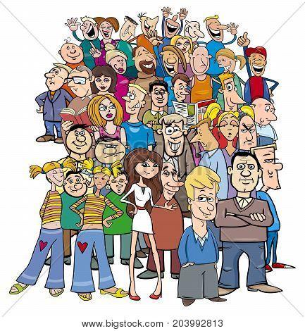 Crowd Of Cartoon People Characters
