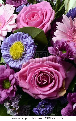 Flowers Bouquet For Background