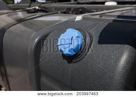 Close up of fuel tank of truck
