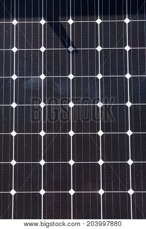 Close up of Solar Cell - photovoltaic modules for renewable energy
