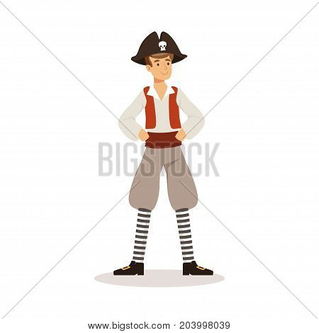 Brave pirate sailor character vector Illustration on a white background