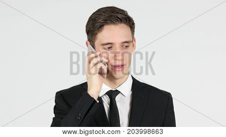 Phone Talk, Businessman Answering Call