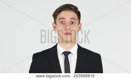 Shock, Unexpected Surprise For Businessman