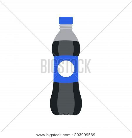 Refreshing drink in plastic bottle vector Illustration isolated on a white background