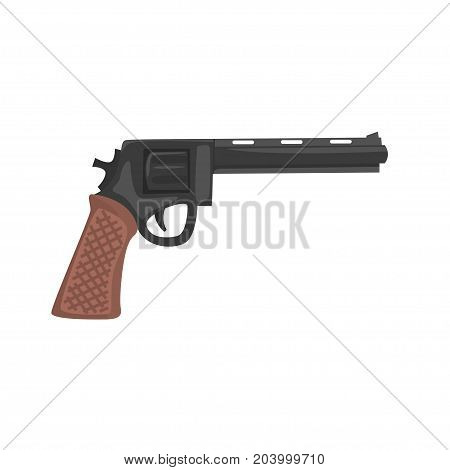Classic pistol gun cartoon vector Illustration isolated on a white background