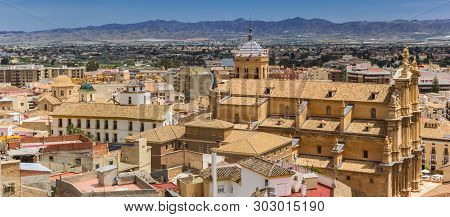 Panoramic View Over Historic City Lorca And The Surrounding Mountains, Spain