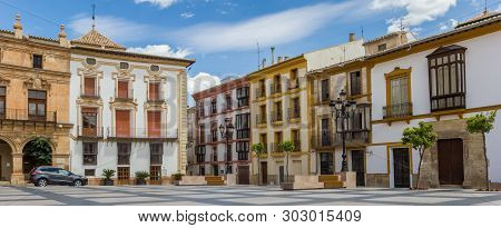 Panorama Of The Plaza Espana Square In The Historic Center Of Lorca, Spain