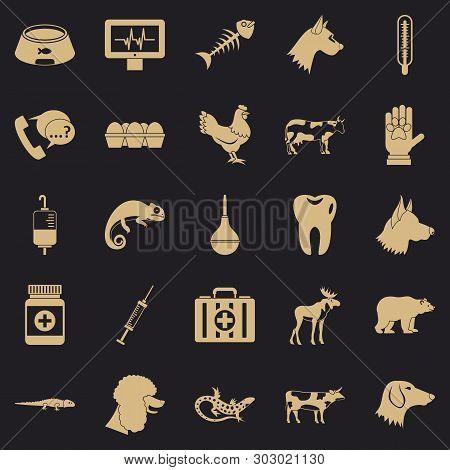 Cow Leech Icons Set. Simple Set Of 25 Cow Leech Vector Icons For Web For Any Design