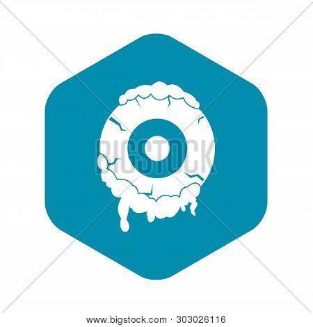 Scary Eyeball Icon. Simple Illustration Of Scary Eyeball Vector Icon For Web