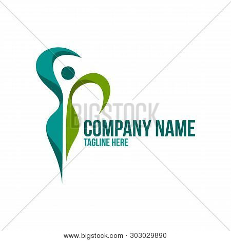 Beatiful - Vector Logo Concept Illustration. Health Logo. Healthy Logo. Beauty Salon Logo. Fitness L