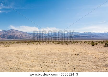 Scenic Landscape Near The West Entrance To The Death Valley National Park In California.