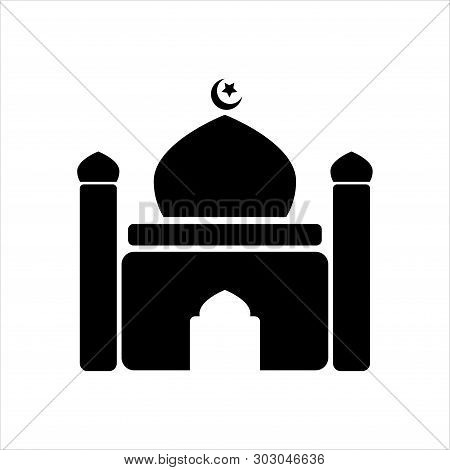 Mosque Icon. Mosque Symbol Design. Simple Element Vector Illustration On White Background.masjid Ico