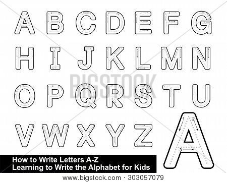Alphabet Tracing Letters  Step By Step Letter Tracing Write The Letter Alphabet Writing Lesson For C