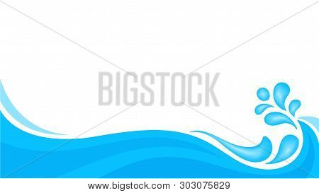 Water Drop Splash Isolated On Banner White Background, Splash Of Water For Element Banner, Water Dro