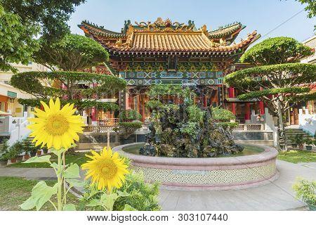 Hong Kong, China - April 08, 2018 : Ching Chon Koon Monastery In Tuen Mun, Hong Kong. It Is One Of T