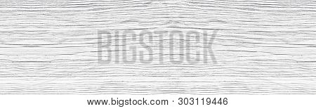 Old Cracked White Painted Solid Wooden Surface Wide Texture. Whitewashed Wood Panoramic Rustic Vinta