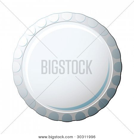 White soda pop bottle cap with copy space for advert