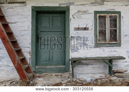 Entrance To A House In Cicmany Village, Slovakia.