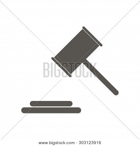 Illustration Icon For Judge Hummer Vector Of Law