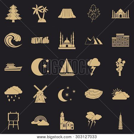 Dusk Icons Set. Simple Set Of 25 Dusk Vector Icons For Web For Any Design