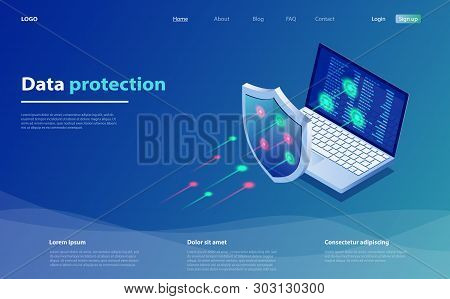 Data Protection Concept. Network Data Security. Safety, Confidential Data Protection, Concept With C