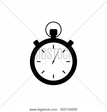 Timer Icon. Sign Og Clock. Start Or Stop Time. Timeout. Old Timer. Counter. Flat Design. Eps 10.