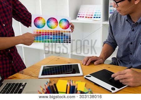 Graphic Designers Present Colors From The Color Palette To Their Friends, For Creative Design Ideas,