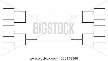 Team Tournament Bracket Templates Vector . Template For Your Design