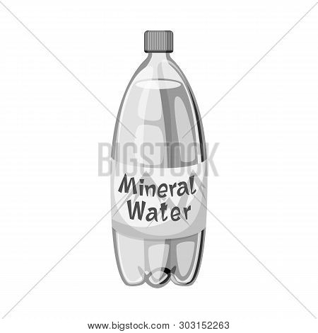 Isolated Object Of Water And Mineral Symbol. Collection Of Water And Salty Stock Symbol For Web.