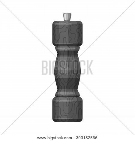 Vector Design Of Saltcellar  And Seasoning Sign. Collection Of Saltcellar  And Wooden  Stock Symbol