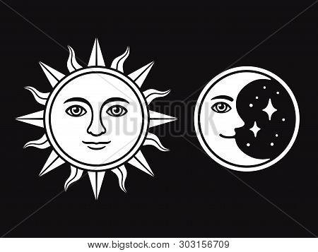 Sun Moon Face, Vector \u0026 Photo (Free Trial)