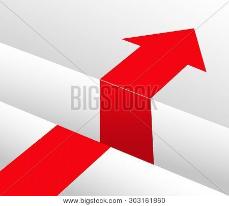 The Red Arrow Goes Along The Surface Towards The Abyss And Continues After The Abyss Ends