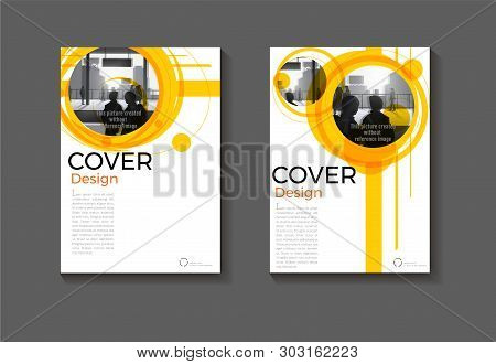 Layout Yellow Abstract Background Modern Cover Design Modern Book Cover Brochure Cover  Template,ann