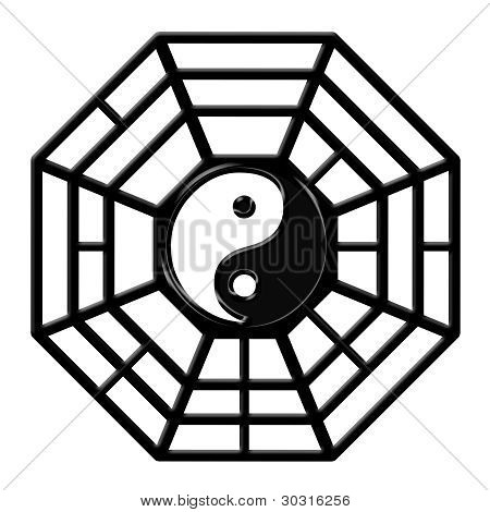 Chinese Ba Gua Octagon Yin Yang Symbol