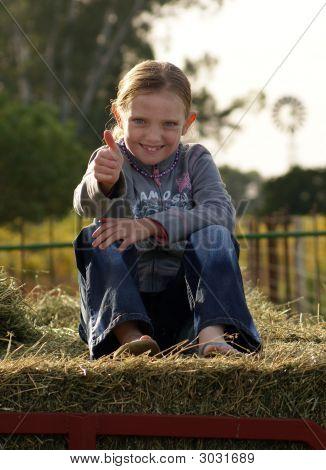 Farm Girl Thumbsup