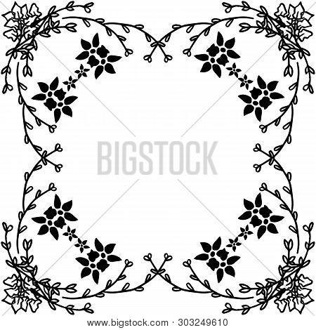 Vector Illustration Invitation With Decoration Flower Frame