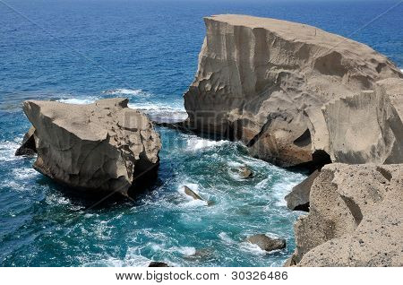 Rocky coast of San Miguel at Tenerife