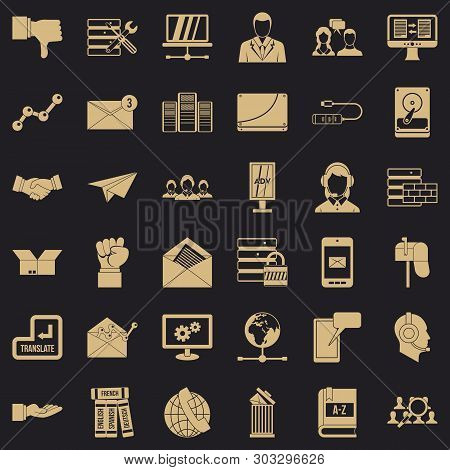 Fellowship Icons Set. Simple Style Of 36 Fellowship Vector Icons For Web For Any Design