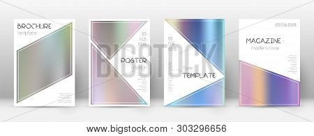 Flyer Layout. Triangle Artistic Template For Brochure, Annual Report, Magazine, Poster, Corporate Pr