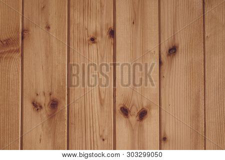 Abstract Pattern On Wood Backdrop. Wooden Texture Board. Light Brown Plank Wooden Background. Brown
