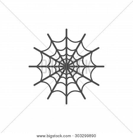 Spider Web Icon Isolated On White Background. Spider Web Icon Simple Sign. Spider Web Icon Trendy An