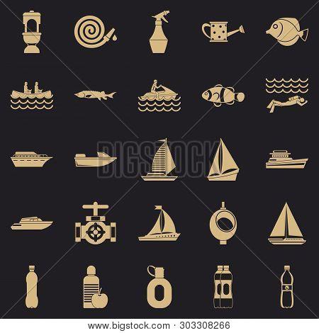 Backwash Icons Set. Simple Set Of 25 Backwash Vector Icons For Web For Any Design