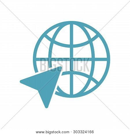 World Globe Icon Isolated On White Background. Www Icon. Www Search Bar Icon. Website Icon. World Gl
