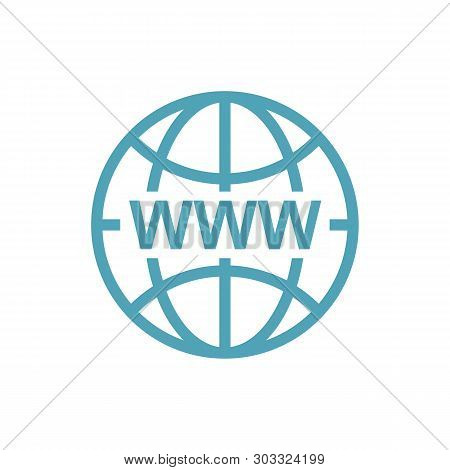 Www Icon In Modern Color. World Wide Web Concept Globe Icon Set. Planet Web Symbol Set. Globe Icons