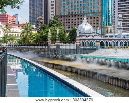 Kuala Lumpur, Malaysia - January 1, 2019 : , A Part Of A New Development Taking Place At Masjid Jame