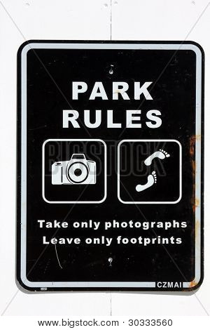 Take only photos leave only footprints