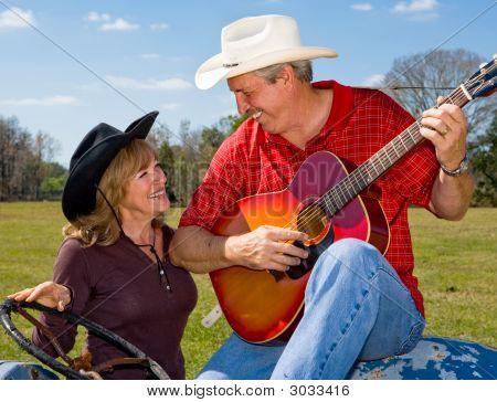 Singing Cowboy & Wife Flirting