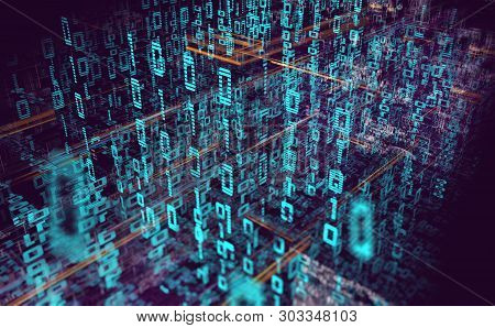 Wallpaper Of Binary Code Concept Pattern And Big Data Structure.net And Source Code.abstract Backgro