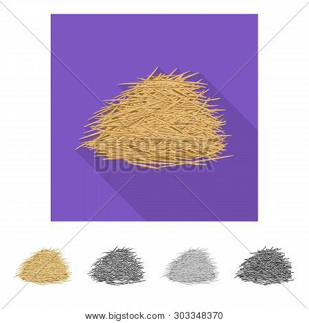 Vector Design Of Bagasse And Raw  Sign. Collection Of Bagasse And Waste Stock Vector Illustration.