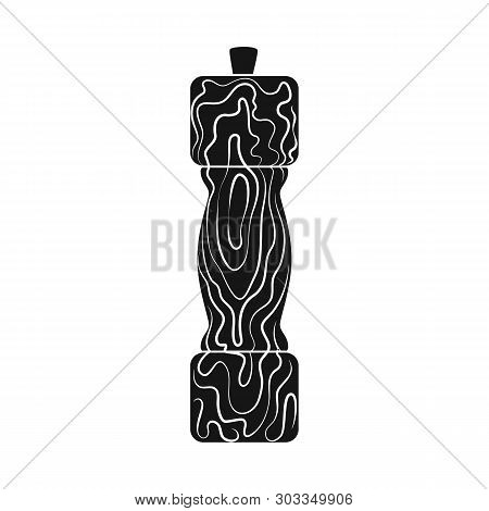 Isolated Object Of Saltcellar  And Seasoning Symbol. Set Of Saltcellar  And Wooden  Stock Vector Ill